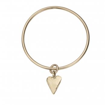 Gold Maxi Heart Bangle