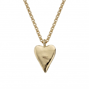 Gold Maxi Heart Necklace