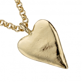 Gold Maxi Heart Necklace detailed