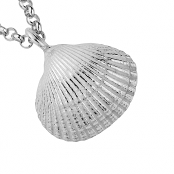 Silver Maxi Shell Necklace detailed
