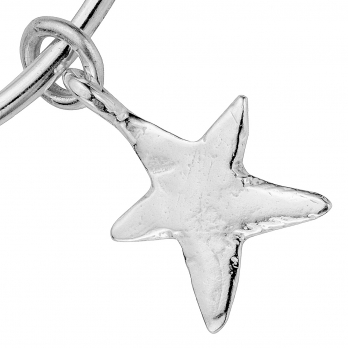 Silver Maxi Star Bangle detailed