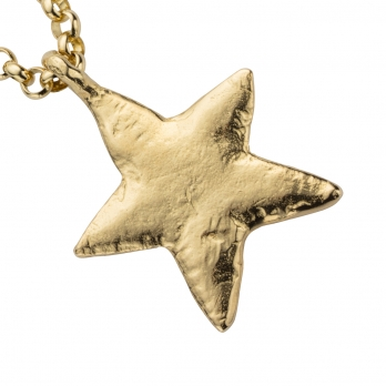 Gold Maxi Star Necklace detailed