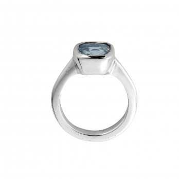 MAZU Silver Blue Sapphire Ring detailed