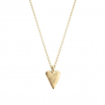 Gold Medium Heart Necklace