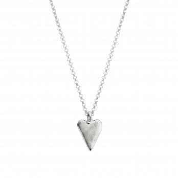 Silver Medium Heart Necklace