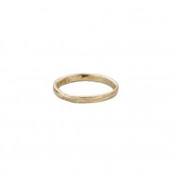 Mens Gold Mini Posey Ring