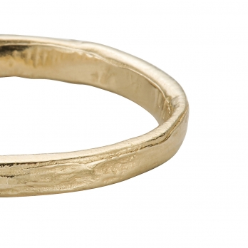 Mens Gold Mini Posey Ring detailed