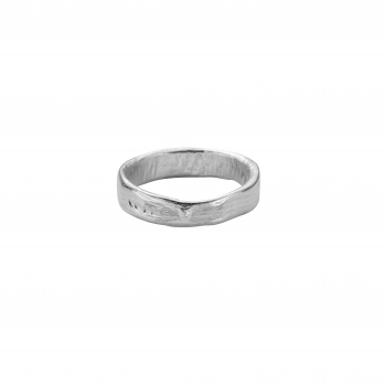 Mens Silver Midi Posey Ring