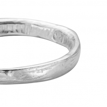 Mens Silver Posey Ring detailed