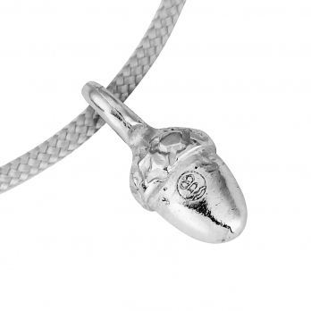Silver Medium Bowness Acorn Sailing Rope detailed