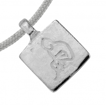 Silver Aquarius Horoscope Sailing Rope detailed