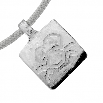Silver Cancer Horoscope Sailing Rope detailed