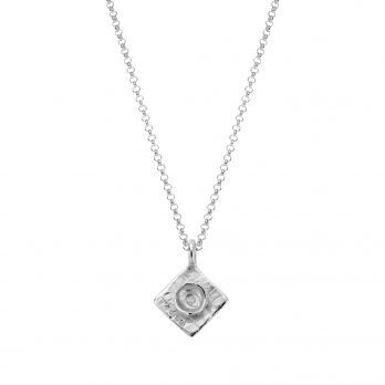 Silver Medium Graduation Cap Necklace