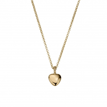 Gold Midi Grateful Heart Necklace