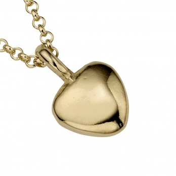 Gold Midi Grateful Heart Necklace detailed