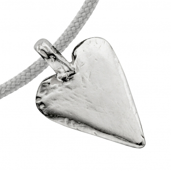 Silver Midi Heart Sailing Rope detailed