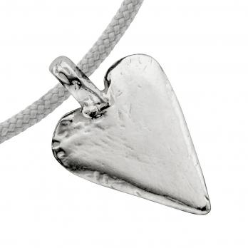 Silver Midi Heart Sailing Rope detailed