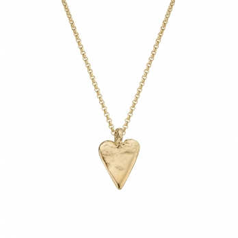 Gold Midi Heart Necklace