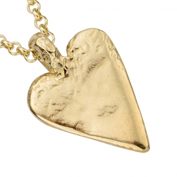 Gold Midi Heart Necklace detailed