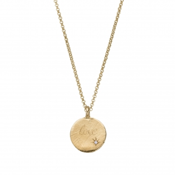 Gold Diamond Midnight Moon Necklace