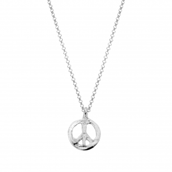 Silver Medium Peace Necklace