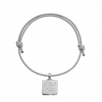Silver Medium Pisces Horoscope Sailing Rope