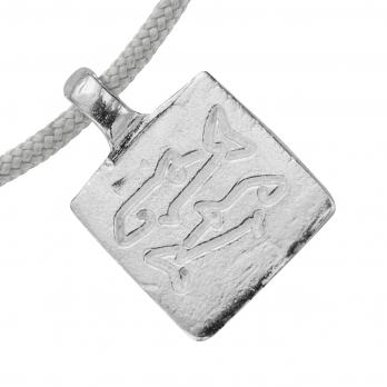 Silver Medium Pisces Horoscope Sailing Rope detailed