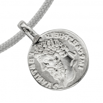 Silver Medium Roman Coin Sailing Rope detailed