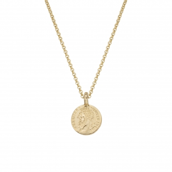 Gold Medium Roman Coin Necklace