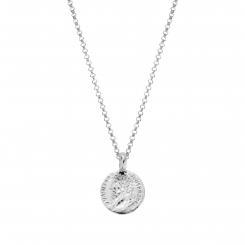 Silver Medium Roman Coin Necklace