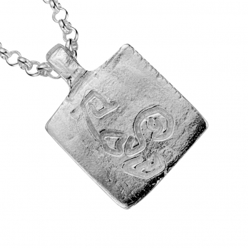 Silver Medium Scorpio Horoscope Necklace detailed