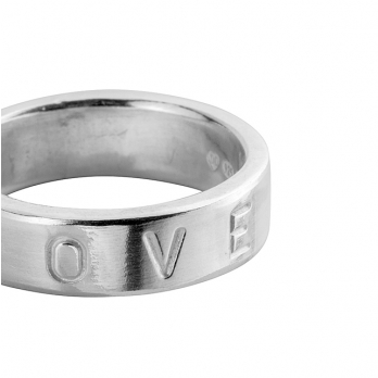Silver Midi Signature Ring detailed