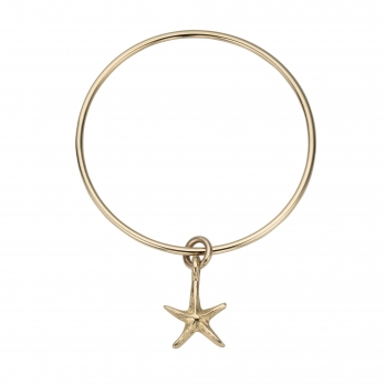 Gold Medium Starfish Bangle