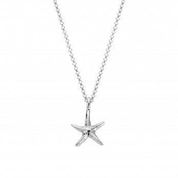 Silver Medium Starfish Necklace