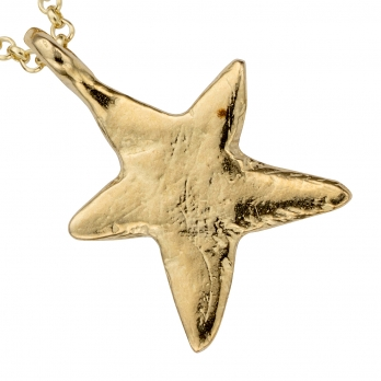 Gold Midi Star Necklace detailed