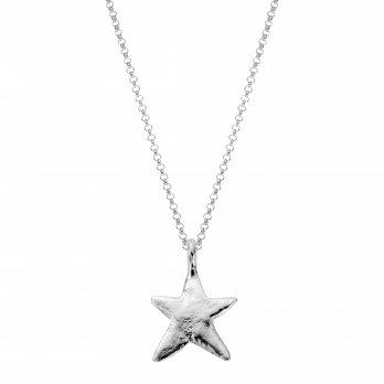 Silver Midi Star Necklace