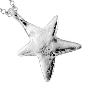 Silver Midi Star Necklace detailed
