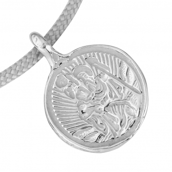 Silver Medium St Christopher Sailing Rope detailed
