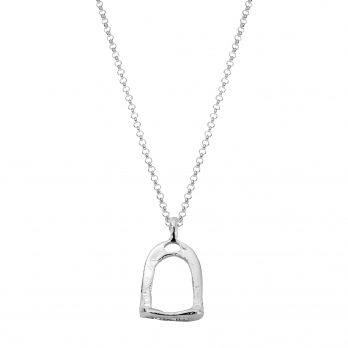 Silver Medium Stirrup Necklace