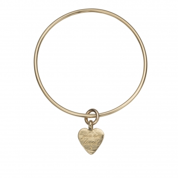 Gold Medium You Are Loved Bangle