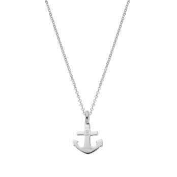 Silver Mini Anchor Necklace