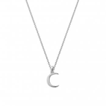 Silver Mini Crescent Moon Necklace