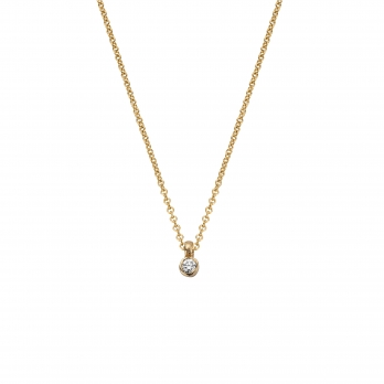 Gold Mini Diamond Necklace