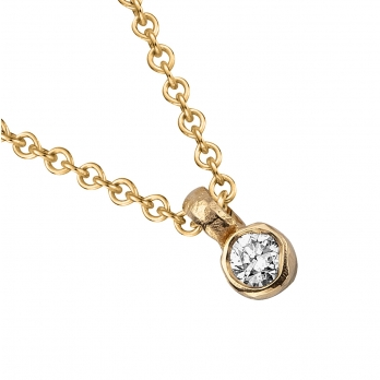 Gold Mini Diamond Necklace detailed