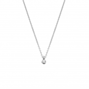 Silver Mini Diamond Necklace