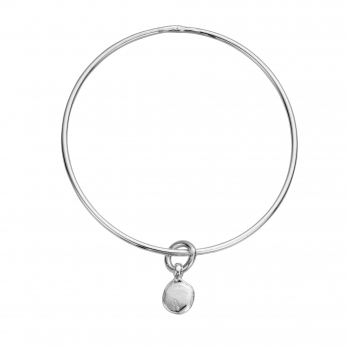 Silver Mini Disc Bangle