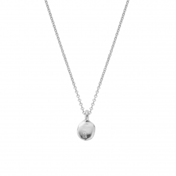 Silver Mini Disc Necklace