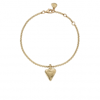 Gold Mini Heart Chain Bracelet