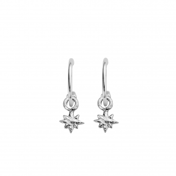Mini Cupid Hoops With Baby North Star Charms