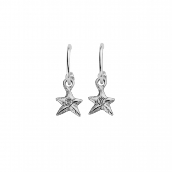 Mini Cupid Hoops With Mini Star Charms